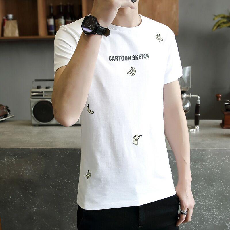 2019夏季男士香蕉印花短袖T恤